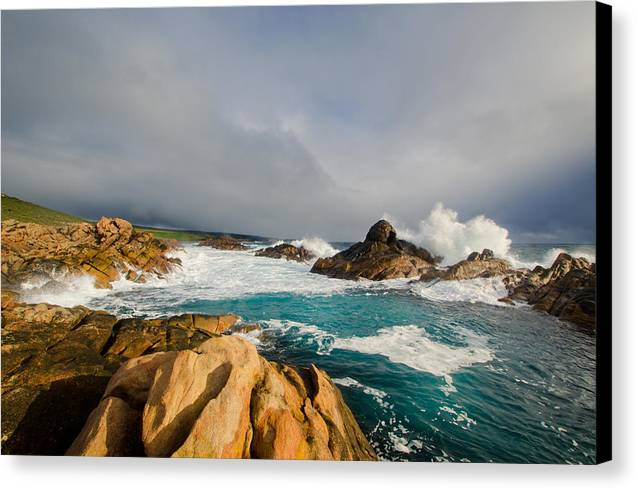 Canal Rocks Canvas Print featuring the photograph Canal Rocks - Western Australia by Daniel Carr