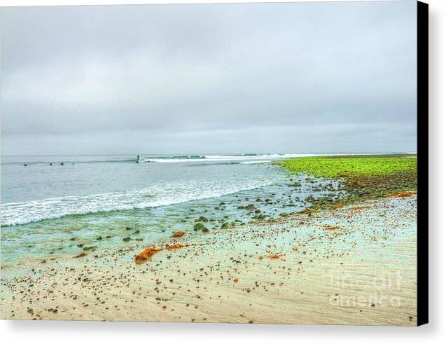 Malibu Canvas Print featuring the photograph Surfrider Lawn by Richard Omura