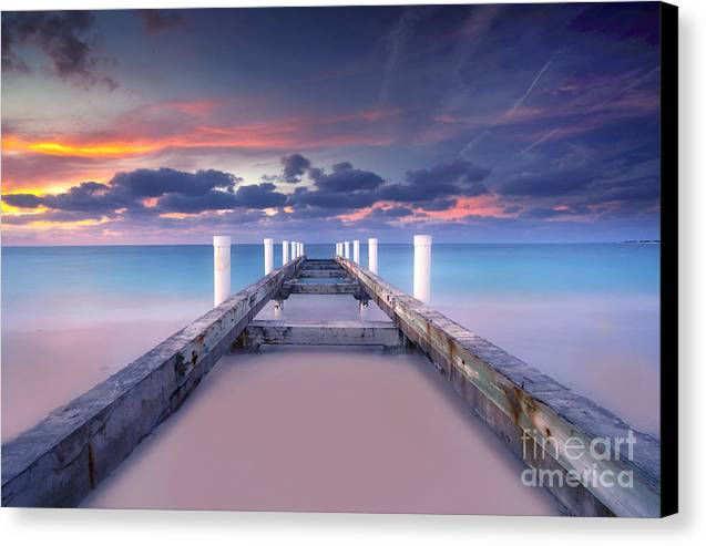 Beach Canvas Print featuring the photograph Turquoise Paradise by Marco Crupi