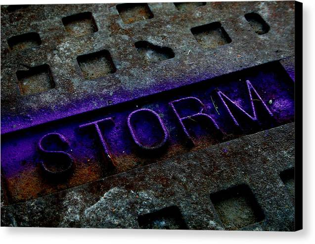 Abstract Canvas Print featuring the photograph Storm by Erika Lesnjak-Wenzel