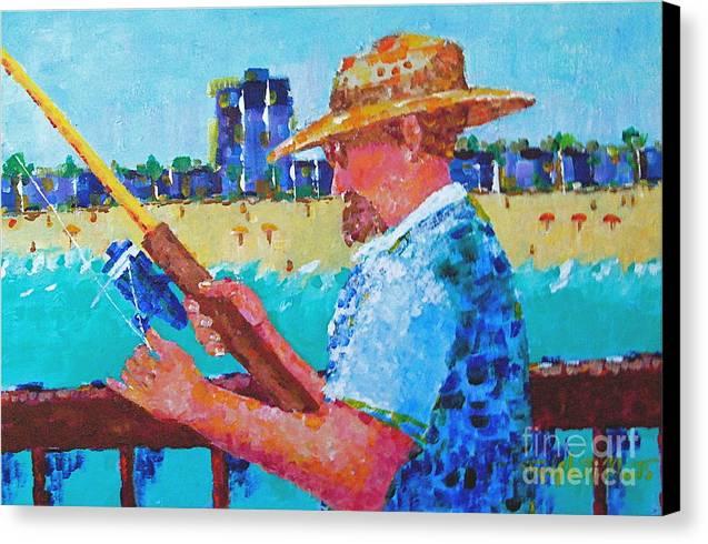 Beach Art Canvas Print featuring the painting Artist Life by Art Mantia