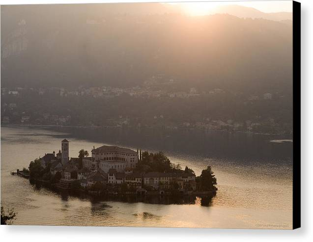 Italy Canvas Print featuring the photograph San Giulio Island by Luigi Barbano BARBANO LLC