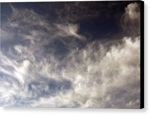 Cloud Canvas Print featuring the photograph Sky9 by Mikael Gambitt