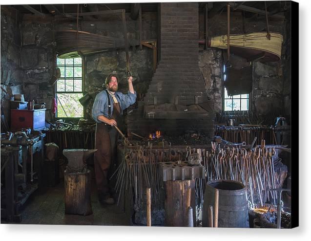 Blacksmith Canvas Print featuring the photograph The Blacksmith by Corey O'Neil