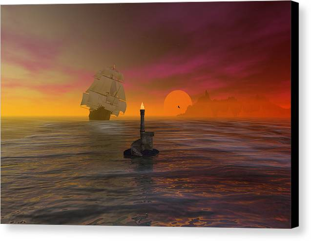 Bryce Canvas Print featuring the digital art The Hazard Marker by Claude McCoy