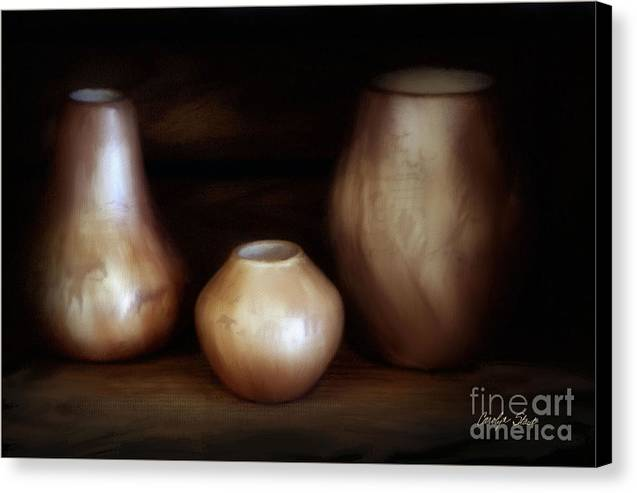 Still Life Canvas Print featuring the painting The Potter by Carolyn Staut