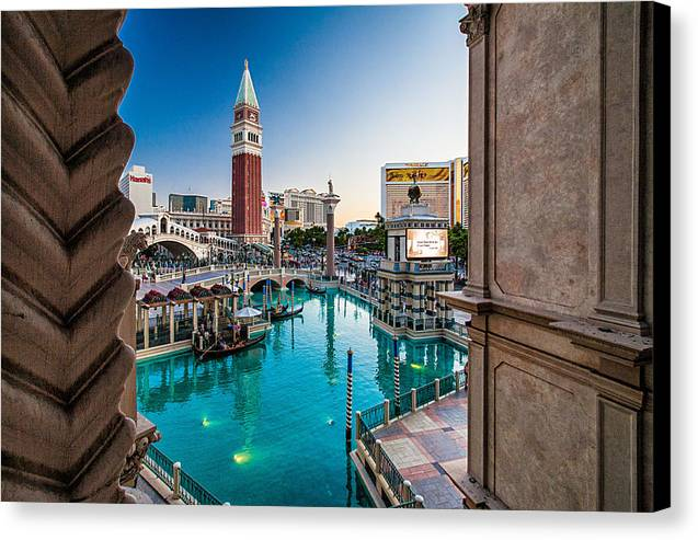 Travel Photography Canvas Print featuring the photograph Vegas #2 by Alex Kotlik