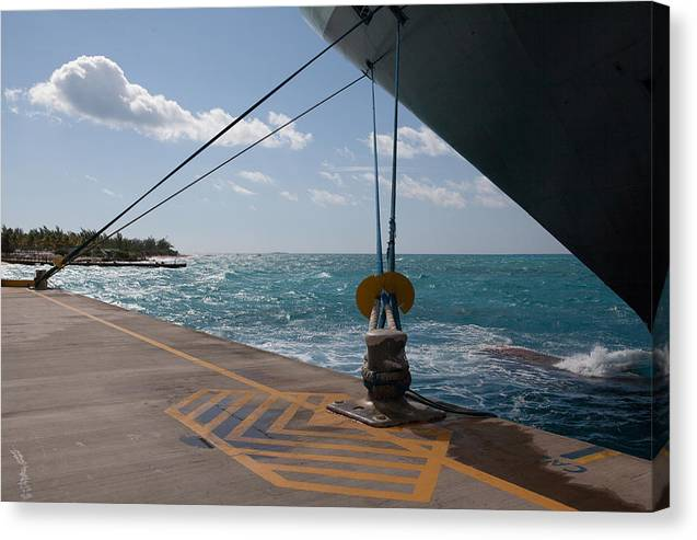 Docked Canvas Print featuring the digital art Docked 1 by Christopher McCartin