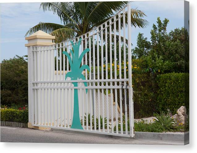 Gate Canvas Print featuring the digital art Gate 1 by Christopher McCartin