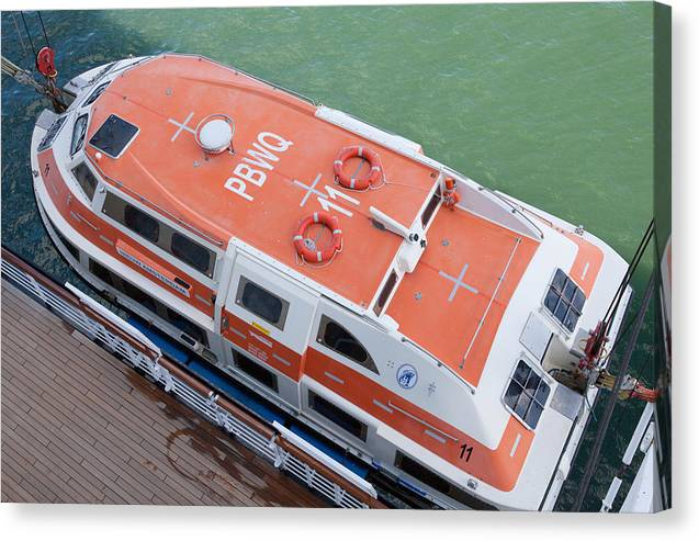 Life Boat Canvas Print featuring the digital art Life Boat 1 by Christopher McCartin
