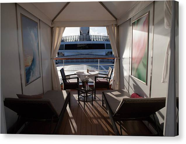 On Deck Canvas Print featuring the digital art On Deck 6 by Christopher McCartin