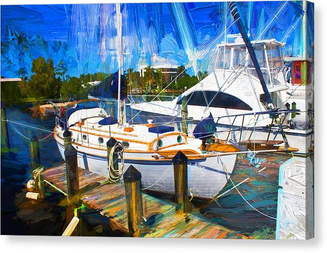 Sailboat Canvas Print featuring the photograph Safe Harbor Series 09 by Carlos Diaz