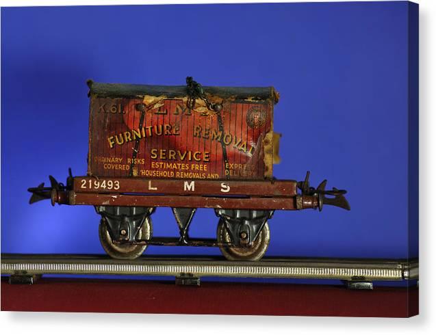 Lms Wagon Tin Train Canvas Print featuring the photograph Tin Train Four by Geoff Evans