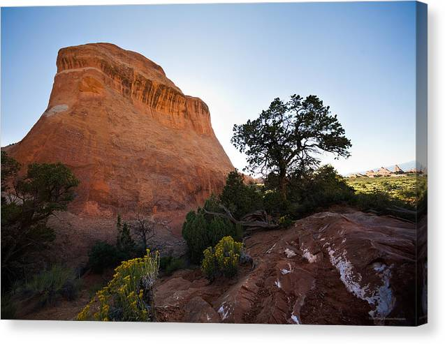 U.s.a. Canvas Print featuring the photograph Moab 2 by Luigi Barbano BARBANO LLC