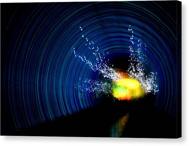 Abstract Canvas Print featuring the photograph Tunnel Vision II by Erika Lesnjak-Wenzel