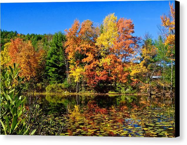 Adirondacks Canvas Print featuring the photograph Autumn - Fall Color by Louis Dallara