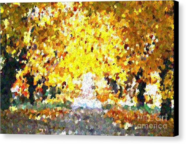 Abstract Canvas Print featuring the painting Autumn Path by Don Phillips