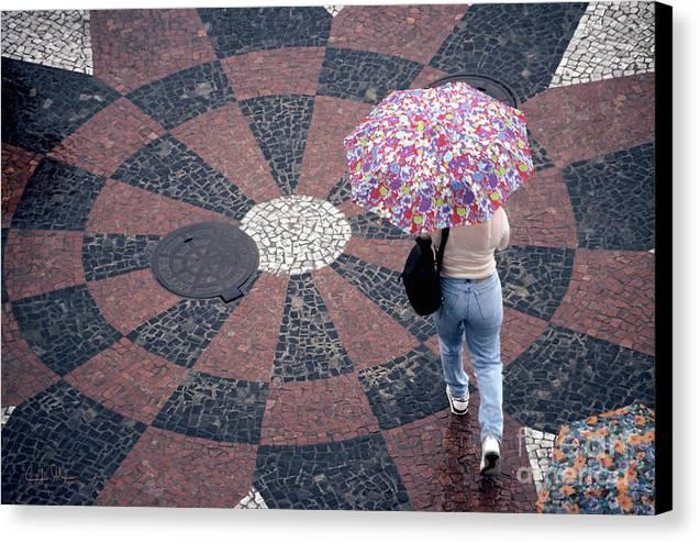 Rain Canvas Print featuring the photograph Florida - Umbrellas Series 1 by Carlos Alvim