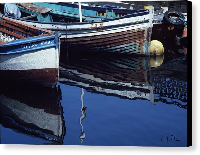 Boat Canvas Print featuring the photograph The Sitting Bull by Carlos Alvim
