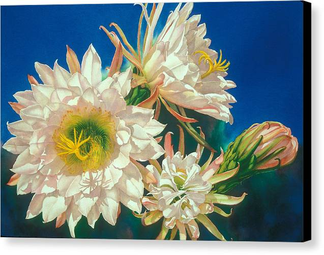 Floral Canvas Print featuring the print Encore by Mary Backer