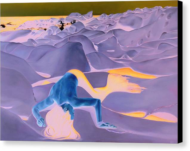 Landscape Canvas Print featuring the painting La Fin Des Illusions 2 by Helene Fleury