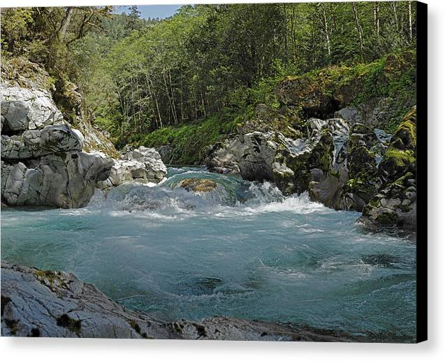 River Canvas Print featuring the photograph Springtime At The Elk River Rapids by Stephen Thompson