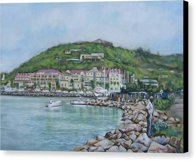 Island Canvas Print featuring the painting Isle At St Martin St Maarten by Howard Stroman