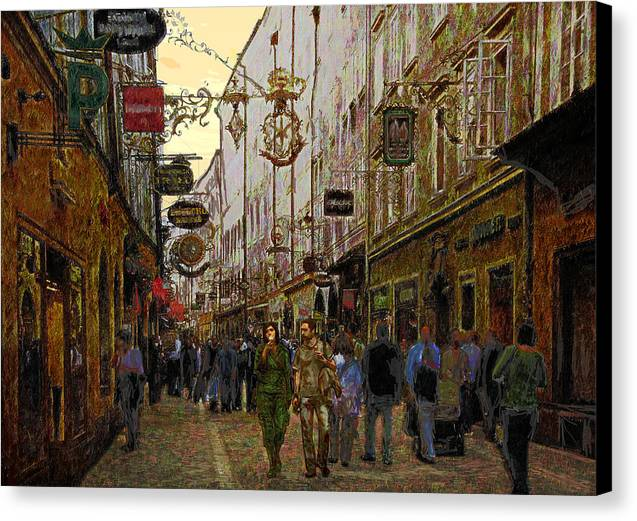 Mozart Canvas Print featuring the digital art Mozart Hometown 2006 by Haruo Obana