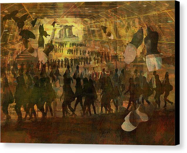 Time Space Canvas Print featuring the digital art Time-space Tunnel by Haruo Obana