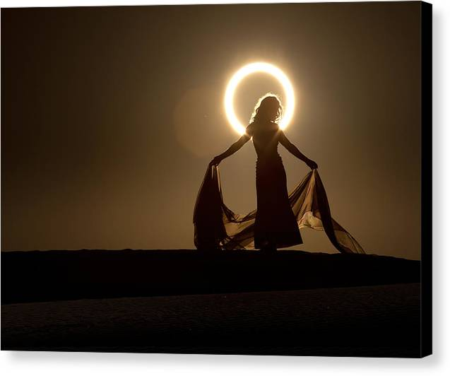 2012 Canvas Print featuring the photograph The Halo by Dario Infini