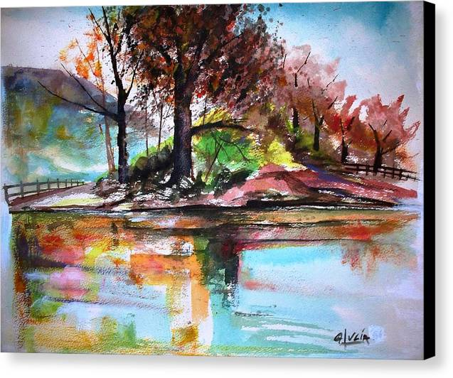 Watercolor.print. Canvas Print featuring the print Water Colors by Carl Lucia