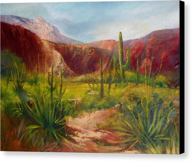 Landscape Canvas Print featuring the painting Arizona Beauty by Robert Carver