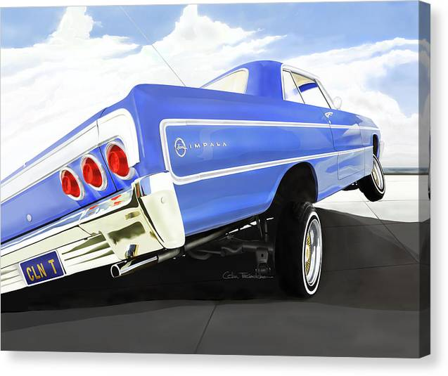 Lowrider Canvas Print Featuring The Digital Art 64 Impala By MOTORVATE STUDIO Colin Tresadern