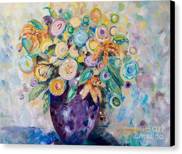 Abstract Canvas Print featuring the painting A Season Of Flowers by Delilah Smith