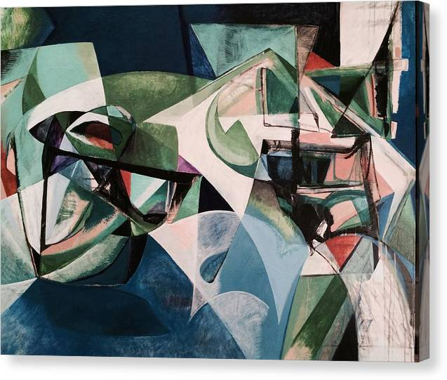 Abstract Canvas Print featuring the painting In You The Earth by Seth Benzel