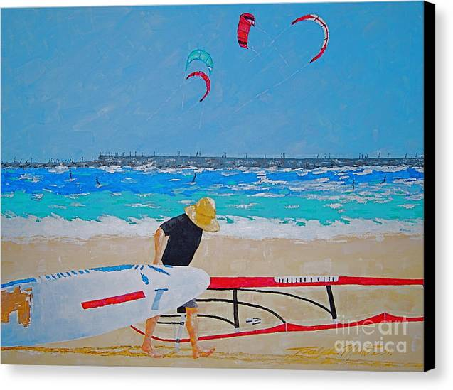 Beach Art Canvas Print featuring the painting Dreamer Disease V Ponce Inlet by Art Mantia