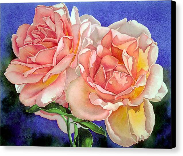 Floral Canvas Print featuring the print Essence by Mary Backer