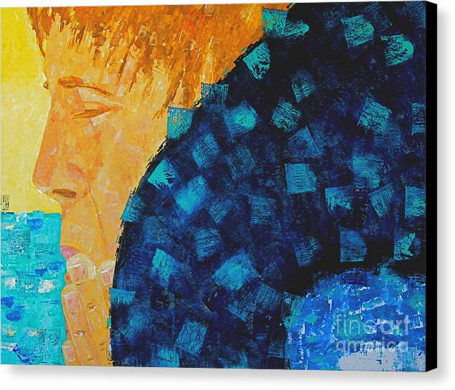 Swimming Canvas Print featuring the painting Silent Prayer by Art Mantia