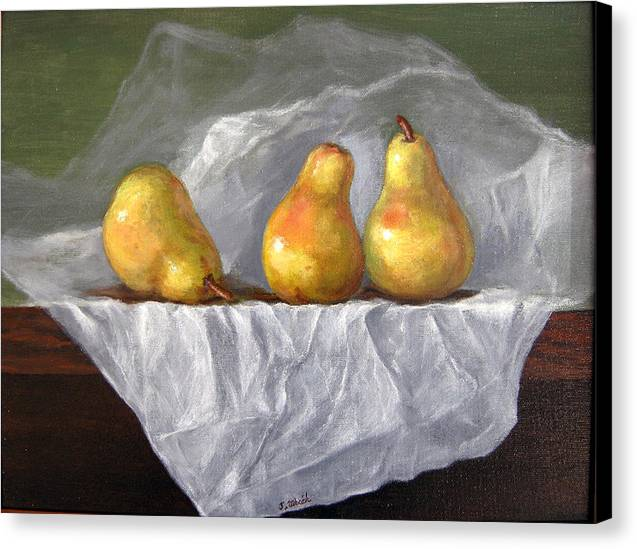 Still Life Canvas Print featuring the painting The Conversation 1 by Jeannette Ulrich