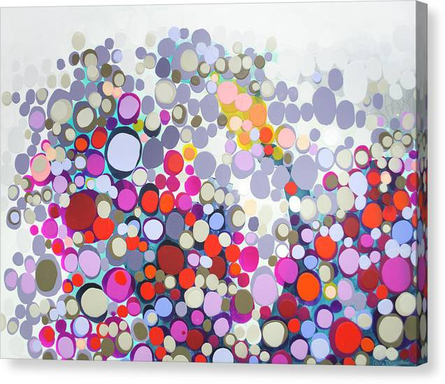 Abstract Canvas Print featuring the painting In The Winter by Claire Desjardins