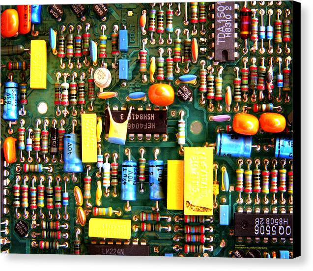 Technology Canvas Print featuring the photograph Board Game_thirtysix by Jonathan Eastland