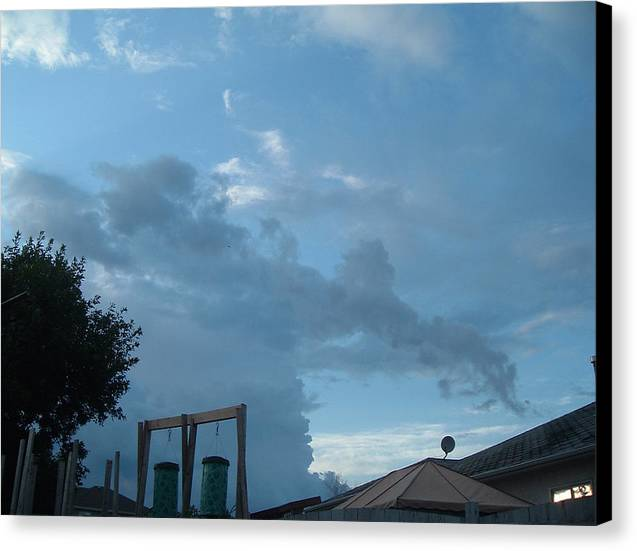 Sky Canvas Print featuring the photograph Atmospheric Barcode 19 7 2008 18 Or Titan by Donald Burroughs
