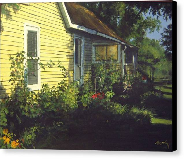Country Canvas Print featuring the painting Aunt Betty by William Brody