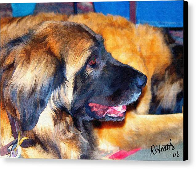 Leonberger Canvas Print featuring the painting Sophie by Richard Heath