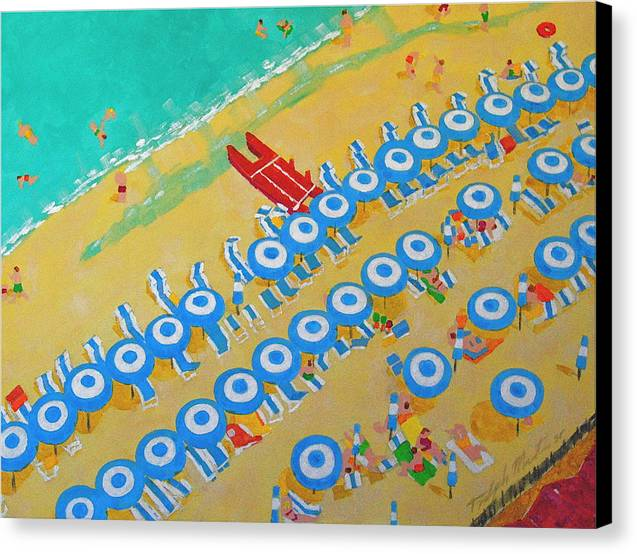 Beach Art Canvas Print featuring the painting Beach At Sorrento by Art Mantia