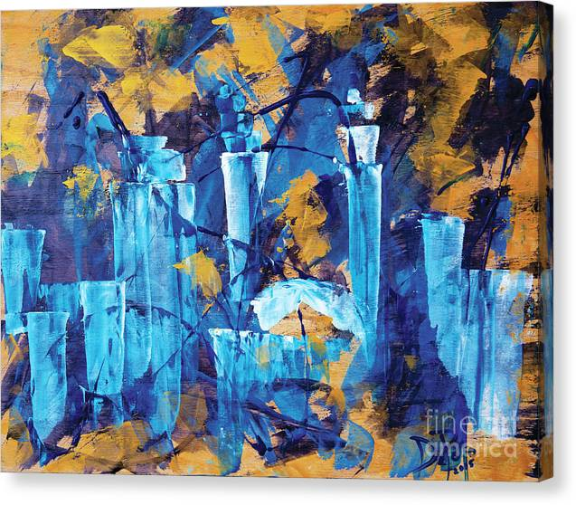 Cleveland Canvas Print featuring the painting City Streets Cle by JoAnn DePolo