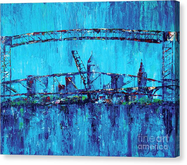 Cleveland Canvas Print featuring the painting Lake View Cleveland by JoAnn DePolo