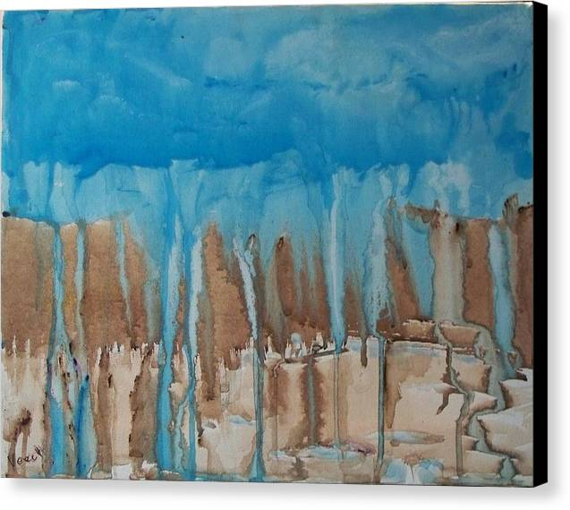 Abstract Canvas Print featuring the painting Desert Storm by Larry Verch