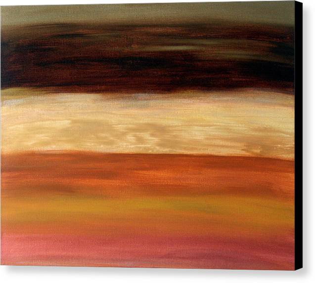 Fine Art Canvas Print featuring the painting Nothing More To Prove by Shiree Gilmore