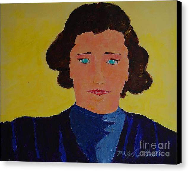 Portraiture Canvas Print featuring the painting Anna by Art Mantia